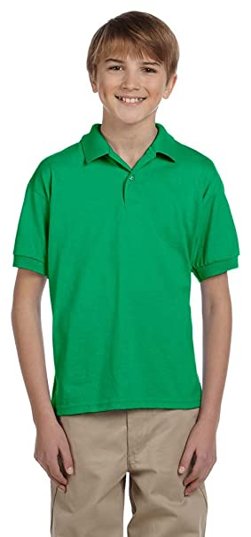 d8961c8ec Gildan DryBlend Youth 5.6 oz., 50/50 Jersey Polo (G880B)- IRISH ...
