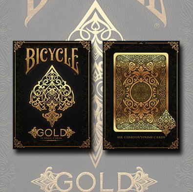 - Bicycle Gold Playing Cards Poker Size Deck USPCC Custom Limited Edition