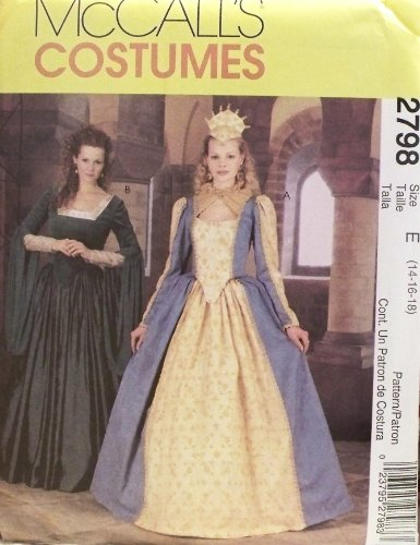 [OOP McCalls Costume Pattern 2798. Misses Szs 14,16,18 Elizabethan Costumes Including a Crown] (Elizabethan Costume Patterns)