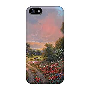Fashionable Style Case Cover Skin For Iphone 5/5s- Kay Walton Hill Spring Glory