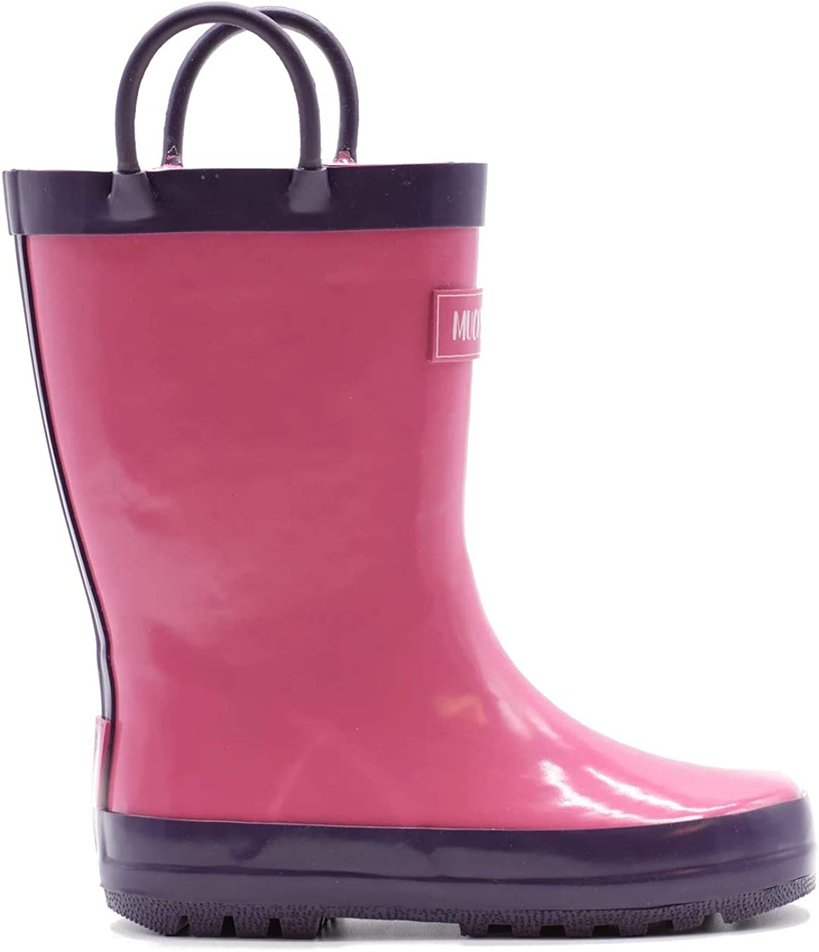Solid Colors Mucky Wear Childrens Rubber Rain Boot