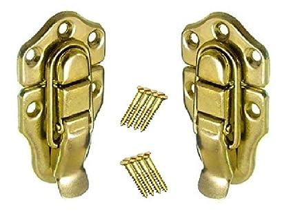 2x MEDIUM Toggle catch Case/Tool Box/Chest  Brass Plated  67mm x 37mm