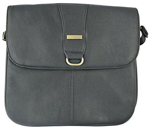 Body Bag Faux Messenger Cross Ladies Black Style Leather Soft Medium size Shoulder 8q5pxvw