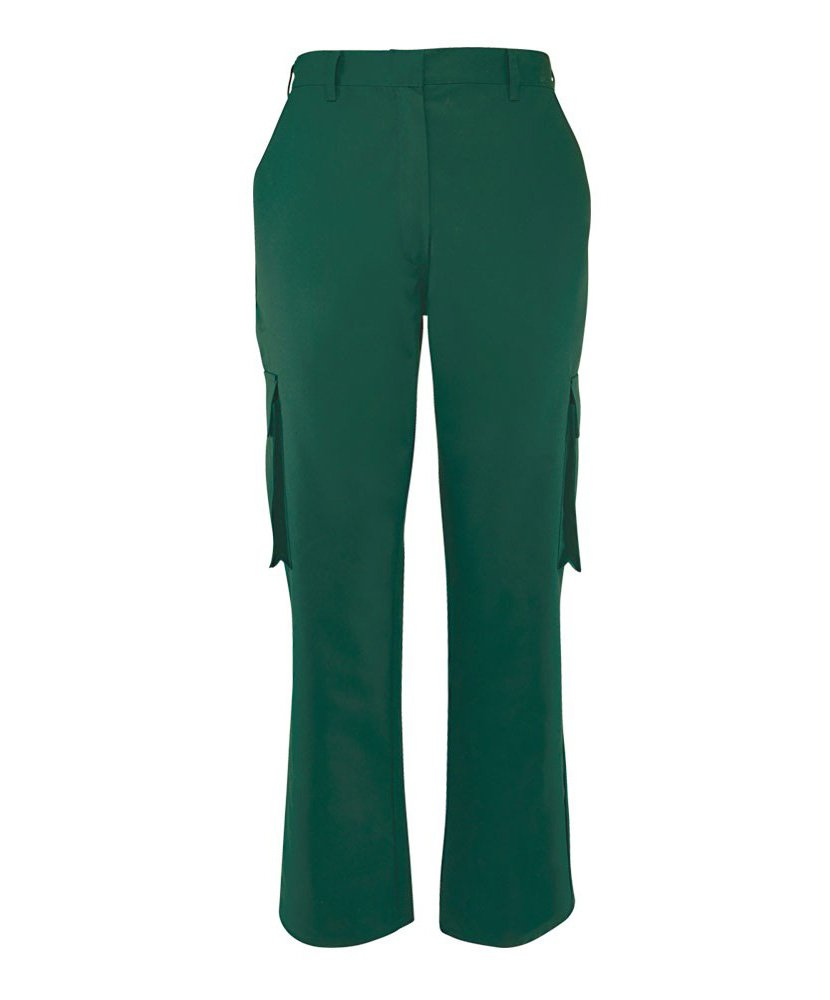 Alexandra STC-NF515BO-08S Women's Cargo Trouser, Short, Plain, 67% Polyester/33% Cotton, Size: 8, Bottle Green