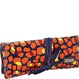 Hadaki Coated Jewelry Roll Cosmetic Bag,Arabesque Pebbles,One Size