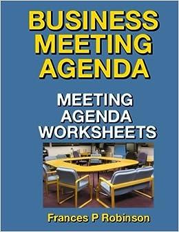Amazon.com: Business Meeting Agenda: Meeting Agenda ...