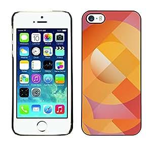 Be Good Phone Accessory // Dura Cáscara cubierta Protectora Caso Carcasa Funda de Protección para Apple Iphone 5 / 5S // Abstract Lines Pattern Orange Purple