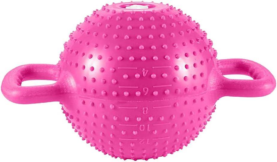 BESPORTBLE Yoga Fitness Kettle Bell Adjustable Water Kettlebell Double Handles Massage Water Kettlebell Home Sports Equipment for Women Rosy