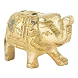 Indian Shelf Handmade Brass Cute Elephant Incense Holder/Agarbatti Stand (NSP-233)