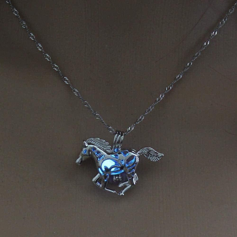 Collar Amazon Ye Guang Zhu Collar Moda Hollow out Horse Colgante Actualmente Disponible Venta Directa Adornos De Halloween