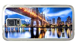 Hipster Samsung Galaxy S5 Cases poetic queensboro bridge night PC Transparent for Samsung S5