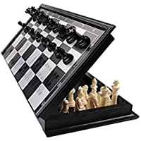 Jambuwala Enterprise™ Magnetic Educational Toys Travel Chess Set with Folding Board for Kids and Adults Black Color (10…