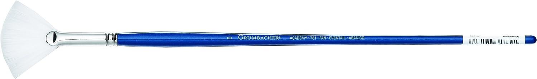 Grumbacher Academy Oil and Acrylic Fan Brush 781.5 Size 5 White Nylon Bristles