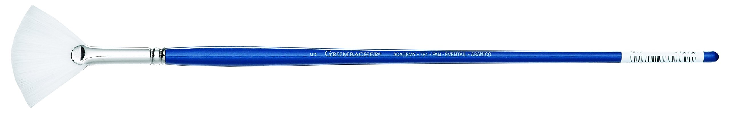 Grumbacher Academy Oil and Acrylic Fan Brush, White Nylon Bristles, Size 5 (781.5)