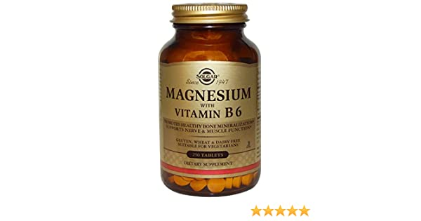 Amazon.com: Solgar, Magnesium, with Vitamin B6, 250 Tablets - 2pc: Health & Personal Care