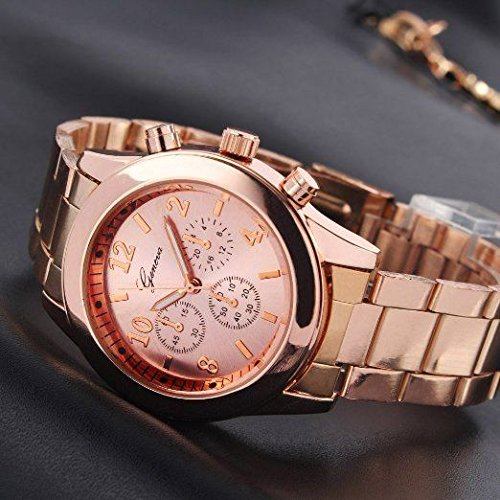 Watch 100% brand new and high quality stainless steel lady's fashion group is comfortable with charming colors. Pink