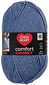 RED HEART  Comfort Chunky Yarn, Blue Jeans