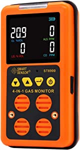 Portable Multi Gas Monitor Digital Air Quality Tester Color LCD Display Rechargeable Battery Powered Handheld Gas Detector Analyzer