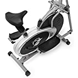 Plasma Fit Elliptical Machine Trainer 2 in 1 Exercise Bike Total Cardio Fitness Home Gym with Heart Rate Monitor