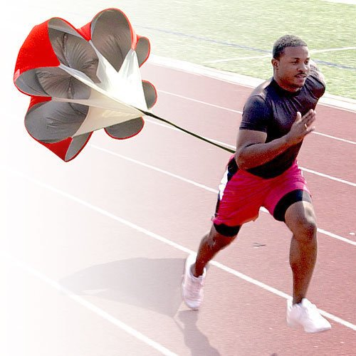 StillCool Running Speed Training 56 inch Speed Drills Resistance Parachute Running Sprint Chute Soccer Football Sport Speed Training (Red)