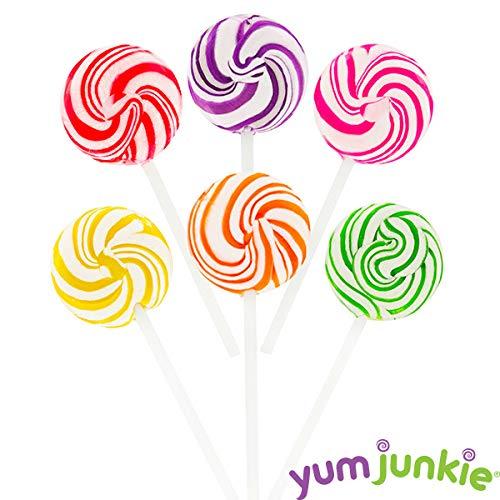 Squiggly Pops Petite Swirl Lollipops - 24-Piece Jar -