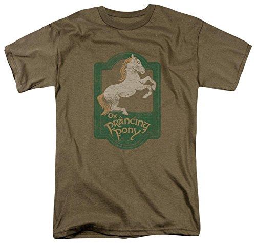 (Lord of the Rings - Prancing Pony Men's T-Shirt, Safari Green, XL)