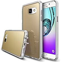Galaxy A3 2016 Case, Ringke [FUSION MIRROR] Bright Reflection Radiant Luxury Mirror Bumper [Drop Protection/Shock Absorption Technology][Attached Dust Cap] For Samsung Galaxy A3 2016 - Royal Gold