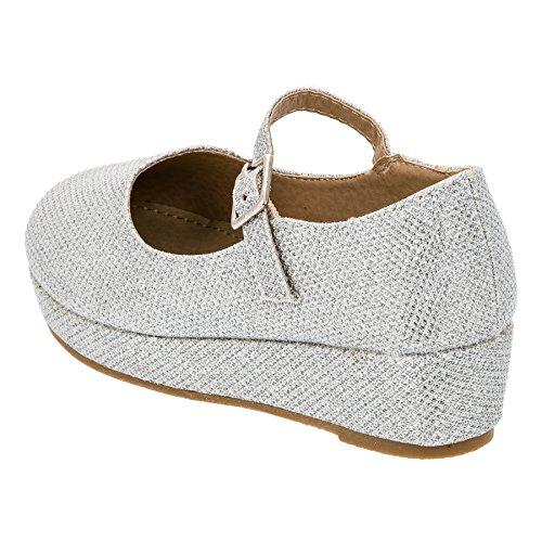 Festliche Ballerina 31 Gr Party Pumps Schuhe Vielen in M319si Mädchen Farben Chochoula Plateau Silber Hochzeit dwUZHSqdB