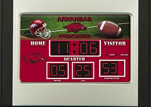 - Evergreen NCAA Arkansas Razorbacks ClockDesk and Alarm, Team Colors, One Size