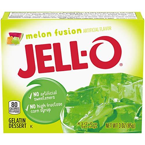 JELLO Melon Fusion Gelatin Dessert Mix (3oz Box)