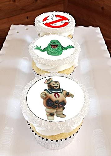 Astonishing Amazon Com 12 Edible Ghostbusters Cupcake Toppers Ghostbusters Funny Birthday Cards Online Alyptdamsfinfo