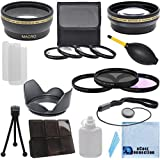 Pro Series 58mm 0.43x Wide Angle Lens + 2.2x Telephoto Lens + 3Pc Filter Sets + 4Pc Close Up Lens + Lens Hood with Deluxe Lens Accessories Kit for Canon EF 75-300mm 4-5.6 III Lens, Canon EF 50mm 1.4 USM Lens, Canon EF-S 55-250mm 4-5.6 IS STM Lens, Canon EF-S 55-250mm 4-5.6 IS II Lens, Canon EF 85mm 1.8 USM Lens, Canon EF 70-300mm 4-5.6 IS USM Lens, Canon EF-S 18-55mm 3.5-5.6 IS II Lens, Canon EF-S 18-55mm 3.5-5.6 IS STM Lens, Canon EF 75-300mm 4-5.6 III USM Lens, Canon EF 100mm 2 USM Lens, Canon EF 100mm 2.8 Macro USM Lens, Canon EF 28mm 1.8 USM Lens, Canon EF 24mm 2.8 IS USM Lens, Canon EF-S 55-250mm 4-5.6 IS II Lens, Canon EF 70-300mm 4.5-5.6 DO IS USM Lens
