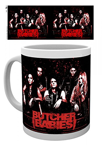 1art1 Set: Butcher Babies, Group, Monster Ball Photo Coffee Mug (4x3 inches) and 1x Surprise Sticker