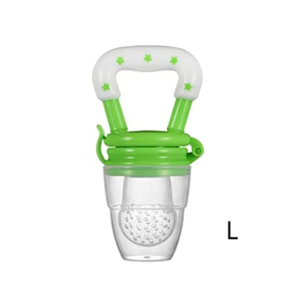 JINGYANHUA 1PC Baby Teether Nipple Fruit Food Mordedor Silicona Bebe Silicone Teethers Safety Feeder Bite Food Teether BPA Free,Green,L: Home & Kitchen [5Bkhe1401791]