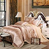 YiXinZhaiPei Tencel woven hollow out four sets of wedding package bedding set , queen