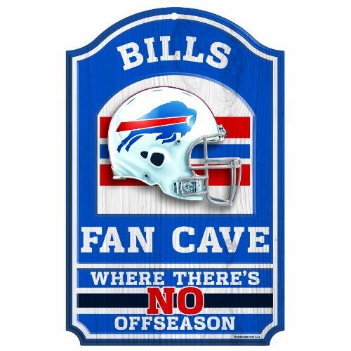 "NFL Buffalo Bills Fan Cave Wood Sign, 11"" x 17"""