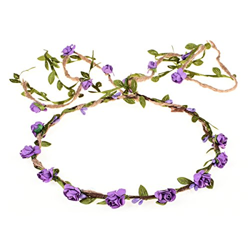 DDazzling Flower Crown Floral Wreath Headband Floral Garland Headbands photo props -