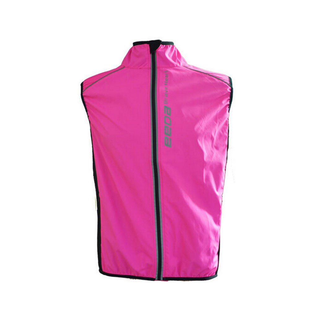 Weat Biking Women Windproof Reflective Breathable Bike Bicycle Jersey Cycling Cycle Sleeveless Wind Coat Windcoat Jacket Vest-RoseRed,Green West Biking
