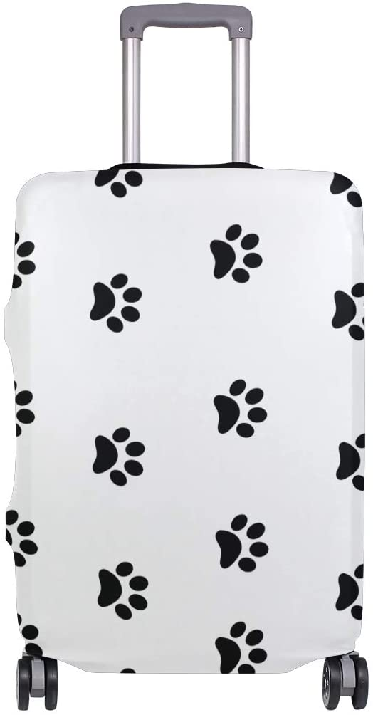Nanmma Cute 3D Dog Paw Pring Pattern Luggage Protector Travel Luggage Cover Trolley Case Protective Cover Fits 18-32 Inch