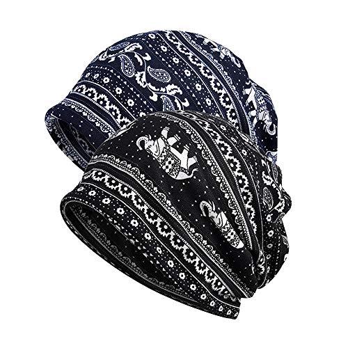 GOLDEN HERON Men Women Baggy Slouchy Beanie Hat Cap Scarf Beanies Chemo Caps Cancer Sleep Hats