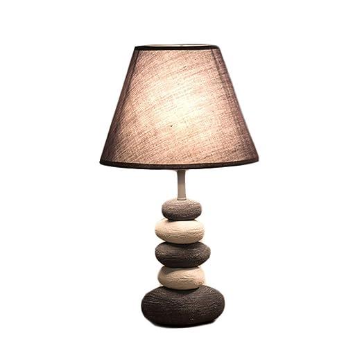 Lamparas de Mesa,Lámpara de mesa LED tela lámpara de mesa de ...