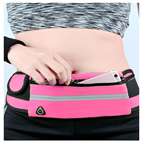 Iphone Running Belt Running Fanny Pack, Waist Pack Running Belt, Waterproof Running Belt Pouch for iPhone 7 Plus, iphone 7, iPhone 6, Samsung Galaxy S8 / S7 And More