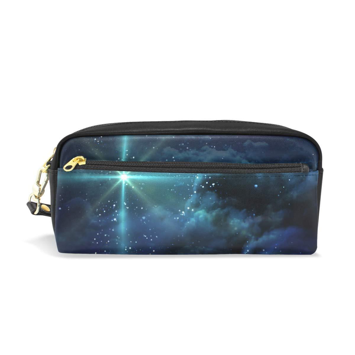 Starry Night Sky - color Estuche escolar, color - azul oscuro, para niños, gran capacidad, bolsa de maquillaje y cosméticos a98ed2