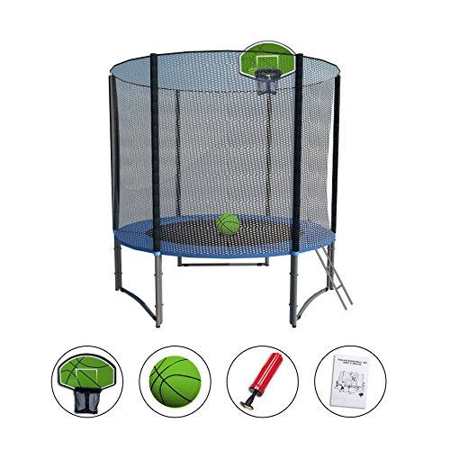 Amazon.com : Exacme 8 FT Trampolín de Alto peso con almohadilla de seguridad, red de cierre, escalera y Aroma de baloncesto Verde, Black Net and Mat, ...