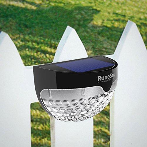 cl/ôture /Éclairage de votre patio RuneSol/® /Éclairage solaire /à capteur de mouvement aliment/é par DEL 6 DEL jardin paquet de 4 /Éclairage de jardin /à DEL all/ée  