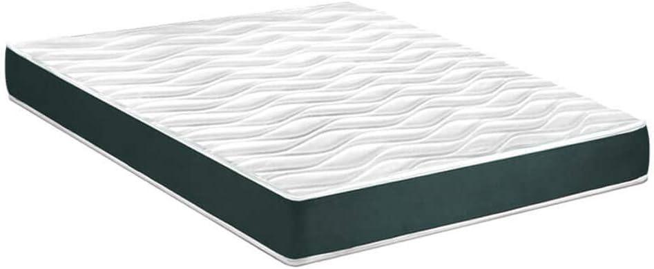 gridinlux. Colchón Dreamlux Alba 90x190 cm. Altura ±12 cm, Basic Slim, Ultra Transpirable, Tejido Strech Aloe Plus, Confort Total, Todas Las Medidas.