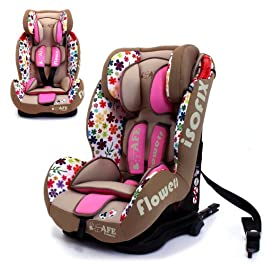 iSafe Isofix Duo Trio Plus and Top Teether Car Seat (Flowers)