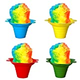 Shaved Ice / Sno Cone Flower Cups, 4 ounce (small), Case of 1000