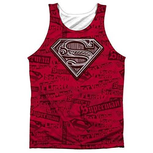 Superman+tank+tops Products : Superman Super Powers Mens Sublimation Tank Top Shirt