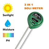 Stolife Soil PH Meter, 3-in-1 Soil Tester Kit Moisture, Light and PH Sets For Home, Garden, Plants, Farm and Lawn (No Battery Need)